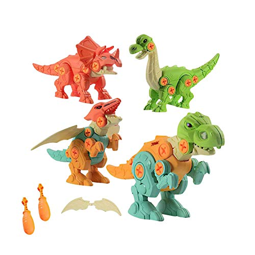 Juguete de desmontaje de dinosaurio para niños – Montaje y desmontaje de dinosaurios, juguete de regalo de cumpleaños, regalo de Navidad para niños y niñas 3 4 5 6 años