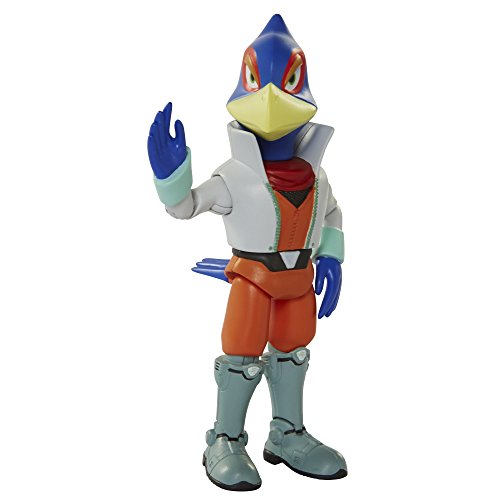 World of Nintendo, Star Fox Falco Lombardi Action Figure, 4 Inches