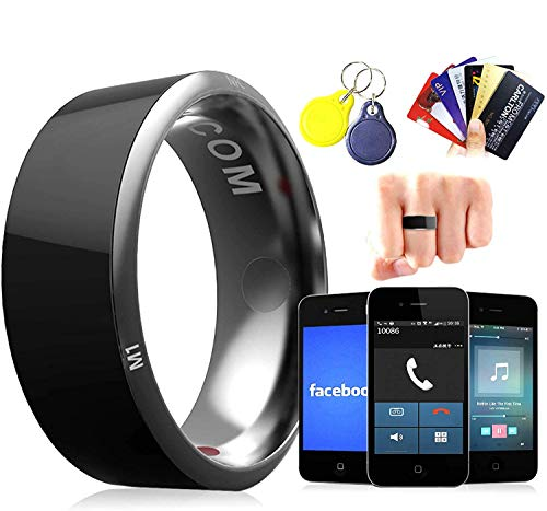 PURROMM Smart NFC Finger Ring, Door Access Administre Dispositivos y Aplicaciones Android Premium Titanium Steel Smart Ring para Hombres y Mujeres Tarjeta de autobús Pago rápido,10