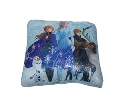 Cojines de Lentejuelas con Licencia Oficial de Frozen 40 cm x 40 cm Olaf Anna Elsa