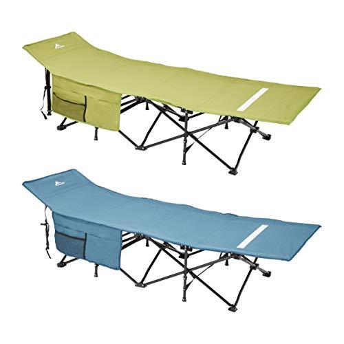 FUN CAMP 2X Campingliege/mit Ziehharmonika-Gestell für schnellen Auf- und Abbau (grün)