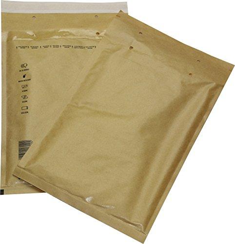 100 St. Luftpolster Versandtaschen Gr. 4 D braun/gold/gelb 200 x 275 mm Briefumschläge DIN B5 C5+ DVD Blu-ray Format