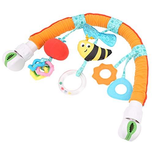 Cosiki Juguete para bebé, Agarre, Entrenamiento, Cuna, decoración Colorida con Abrazaderas, Arco para Cochecito, Juego de Viaje para bebés, niños y niñas(Bee Models (OPP Bag))