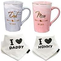 Mugpie Dad and Mom EST 2021 Couple Mugs with