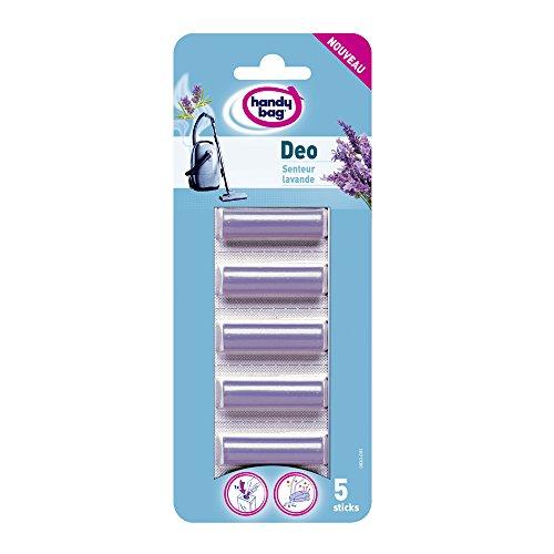 Handy Bag Déo Sticks, pour Aspirateurs avec Sac, Sticks désodorisants Parfumés, Senteur Lavande, Lot de 5