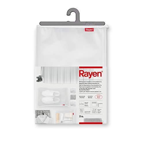 Rayen | Bolsas para Zapatos y Accesorios | Pack de 2 unidades | Cierre con cremallera Zip | Impermeable | Especial Viajes | Dimensiones: 41 x 28 cm