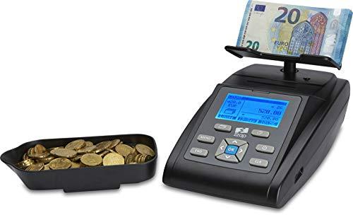 ZZap MS40i Geldwaage für Münzen und Banknoten mit eingebautem Drucker und Batterie