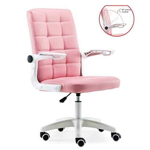 Rosa Computer Stuhl Erwachsene Spiel Stuhl Arch Bürostuhl Ergonomischen Bürostuhl Bequeme Rückenlehne Kann Armlehne Angehoben Werden (Color : Pink, Size : 56 * 56 * 102cm)