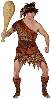 Mens 4 Piece Prehistoric Caveman Cave Man Dinosaur Party Carnival Fancy Dress Costume Outfit M-XL
