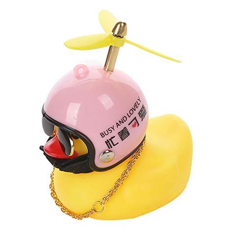 lefeindgdi Pequeño pato amarillo decoración del coche, rompevientos patito con casco accesorios...