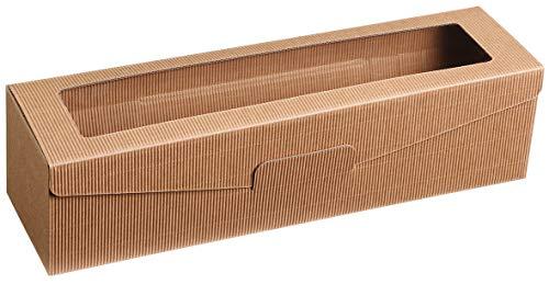 'Passepartout natur' - 10 pezzi: scatola portabottiglia in cartoncino naturale, confezione per bottiglie di vino, naturale, 1 pezzo
