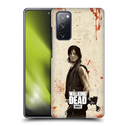 Head Case Designs sous Licence Officielle AMC The Walking Dead Daryl Illustrations Look Affligé Coque Dure pour l'arrière Compatible avec Samsung Galaxy S20 FE / 5G
