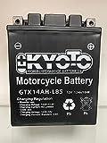 Batería moto Kyoto YTX14AHL-BS compatible con Ducati Pantah 600 - Fornita pronta all'uso 12V 12Ah 134 x 89 x 166 mm