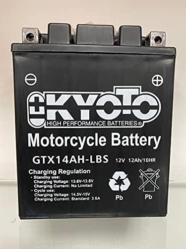 Batería moto Kyoto YTX14AHL-BS compatible con Yamaha SV125E Sno-Scoot 125 1990-1991 - Fornita pronta all'uso 12V 12Ah 134 x 89 x 166 mm