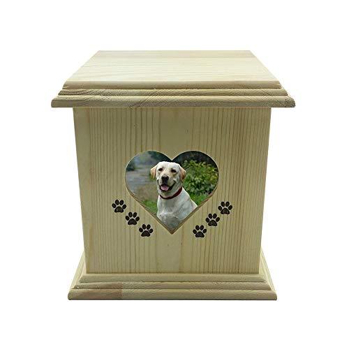 NWZW Hund Haustier Haus Katze Feuerbestattung Glas Denkmal Ruhig Box Quadrat Memorial Tier, Urns