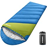 FUNDANGO XL Oversize All Weather Sleeping Bag for Adult, Big Tall Man, Large Wide Lightweight Waterproof Portable Compact Sleeping Bag with Compression Sack for Camping, Backpacking, Hiking, Travel