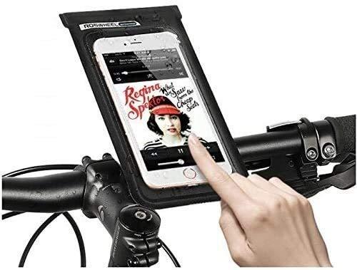Bolsa para manillar de bicicleta, resistente al agua con pantalla táctil para teléfono celular, funda para marco de bicicleta, soporte para teléfono para iPhone XS X 8 7 6S 6 Plus