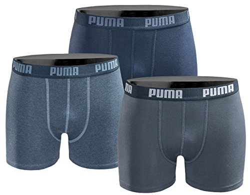 Puma Jungen Boxershort Kids Limited Black Edition 3er Pack - Denim Combo - Gr. 128