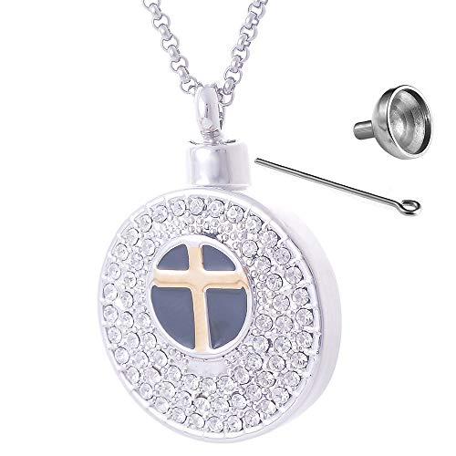 SONGAI Exquis Pendentif commémoratif Pendentif commémoratif Double Goutte d'huile et Diamant Pendentif Bouteille de Parfum (Color : B)
