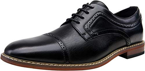 VOSTEY Men's Dress Shoes Black Oxford Shoes for Men...