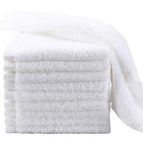 GREEN WICH Toallas Blancas - Juego de Toalla 50x90cm/70x130cm/100x140cm - Set de 2/5/6unidades - algodon100% - Toalla de baño - Ligero Toalla de Secado - para hogar/Hotel/hostal (50x90cm -6uds)