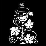 Empty 4 pcs Autocollants De Voiture11.8 cm * 17.3 cm Raisins De Vin Vinification Vinyle Autocollant De Voiture Décor Noir/Argent-Blanc