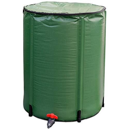 CHAO Faltbarer Regenbehälter mit Filterzapfen-Überlaufkit, tragbar, langlebig, leicht zu entfernen, zu reinigen und zu warten, für den Innen- und Außenbereich geeignet