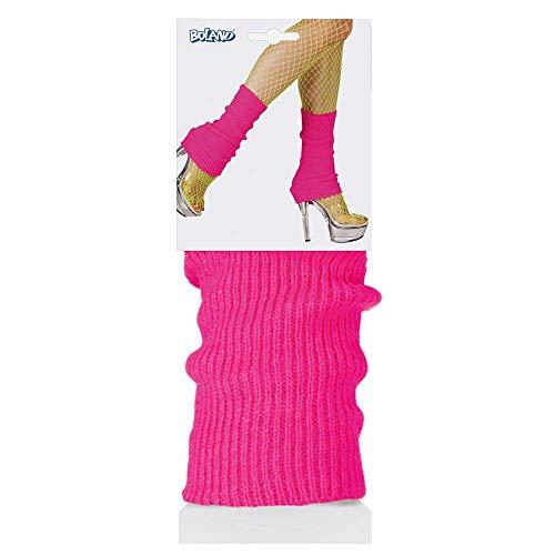 Boland 01755 - Beinwärmer für Erwachsene, Pink, Einheitsgröße, Stulpen, Socken, Overknees, 80er Jahre, Motto Party, Karneval