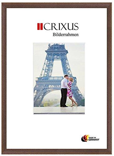 Crixus30 Marco de Fotos de MADERA SÓLIDA para 85 x 120 cm fotos, color: Nogal antiguo Brown, con vidrio acrílico antirreflectante (1mm), Ancho del marco: 30mm, dimensiones externas: 89,8 x 124,8 cm