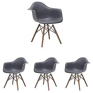 Design ergonomico: questa elegante sedia bianca è funzionale e confortevole per te e i tuoi ospiti. Il design fornisce supporto per la schiena e le braccia. INTERNI ED ESTERNI: grazie alla struttura delle gambe e alla superficie opaca di alta qualità...