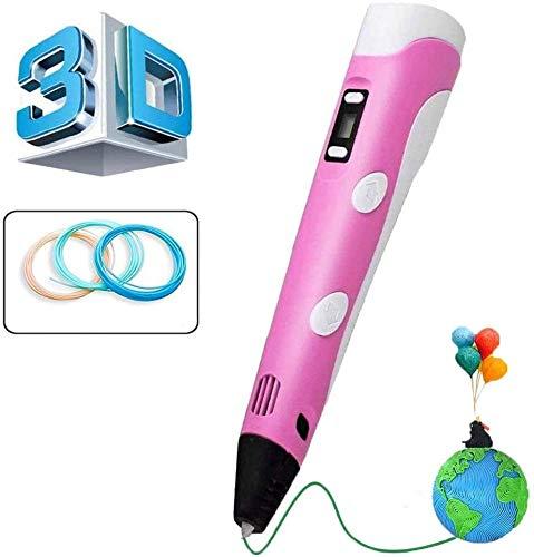 Msholy Pluma 3D, Pluma de impresión 3D con Pantalla LCD Inteligente y Temperatura/Velocidad Ajustable, Compatible con Pluma 3D Profesional con filamento PLA/ABS, Regalo para niños, Adultos