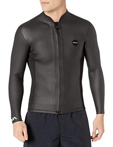 RVCA Men's Front Zip Smoothie Wetsuit Jacket, Black, S