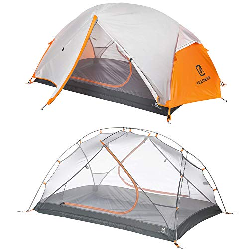 Featherstone Outdoor UL Granite 2 Person Backpacking Tent Lightweight 3-Season Freestanding for Camping Hiking and Expeditions