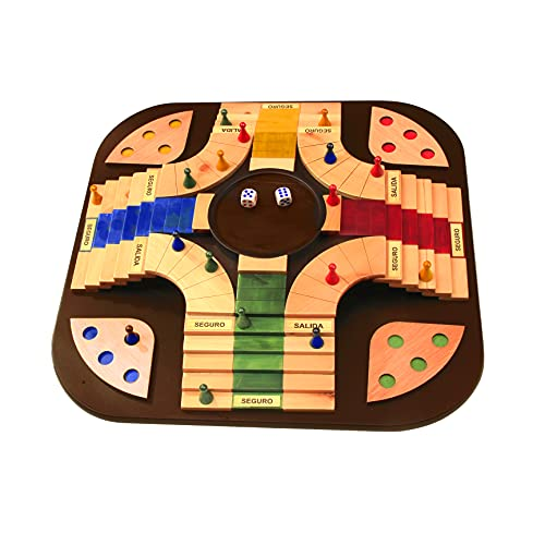 Ludo Board Game, Parchisi Game for Adults, Parcheesi Board Game 3D, Wooden parcheesi Board Game, parques juego de mesa Colombiano, parques Colombiano 3D, parchis, parchis Game Jumbo.