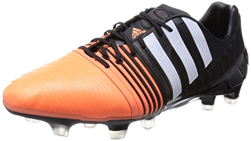 adidas Performance Herren Nitrocharge 1.0 FG Fußballschuhe, Mehrfarbig (Core Black/FTWR White/Flash Orange S15), 40 2/3 EU