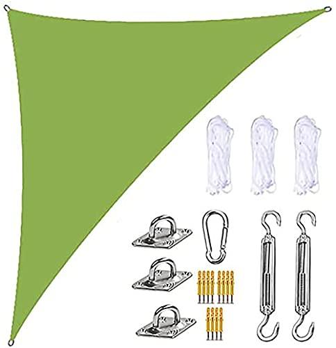Toldo Vela de Sombra Triangular -Toldo UV - HDPE 4x4x5,7 Vela de Protección Solar Triangular - Techo Balcón Jardín Beige