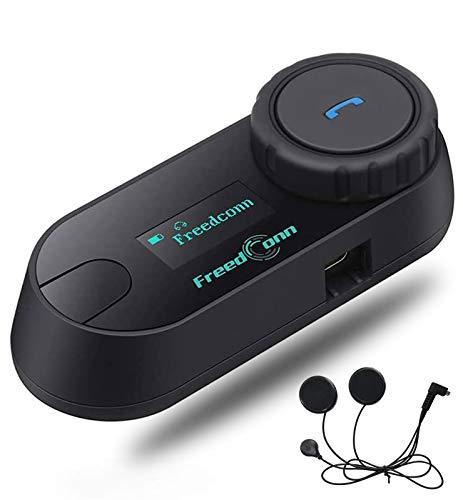 Motorcycle Helmet Bluetooth Headset FreedConn Communication System Kit Wireless Interphone Waterproof TCOM-SC 800M Full Face intercom