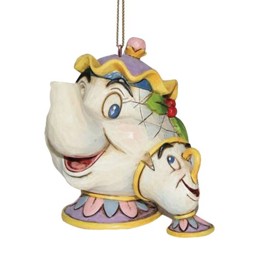 Enesco A21431 Sospensione Mrs Potts & Chip, PVC, Multicolore, 4x3x6.5 cm