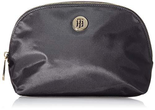 Tommy Hilfiger Poppy WASHBAG, Productos de cuero pequeños para Mujer, Negro, One Size