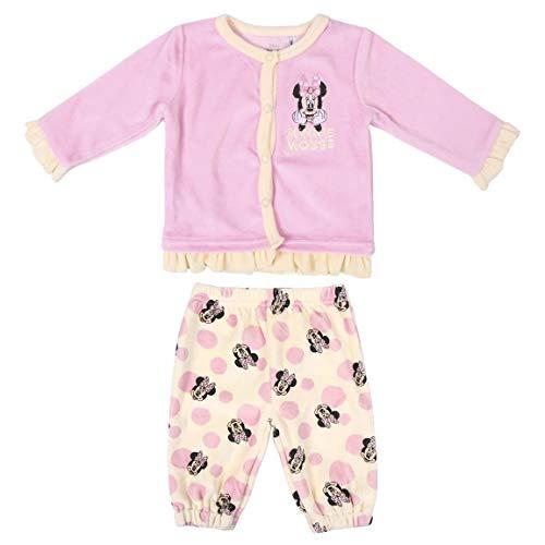 CERDÁ LIFE'S LITTLE MOMENTS 2200006145_T09M-C70 Conjunto Recién Nacido Niña Invierno de Minnie, Rosa, 9 Meses para Bebés