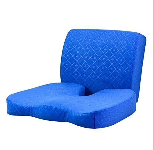 DUIPENGFEI Memory foam lumbar cushion, two-piece waist cushion, beautiful buttocks cushion, blue, cushion: 45 * 35cm back cushion: 34 * 31cm
