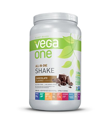 Vega One All-in-One Nutritional Shake Chocolate 30.9 Ounce - Plant Based Vegan Protein Powder, Non Dairy, Gluten Free, Non GMO