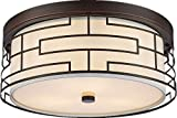 Amabao Lighting, 3-Light Steel Art LED Flush Mount Light Fixture, Ceiling Light Fixture Bedroom, Living Room, Dining Room, Oil Rubbed Bronze, Bulbs Not Included