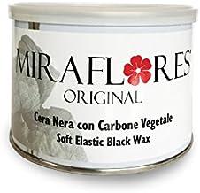 Cera depilatoria negra brasileña en tarro de 400 ml - Depilación indolora sin rayas para el cuerpo, axilas, piernas, área de bikini