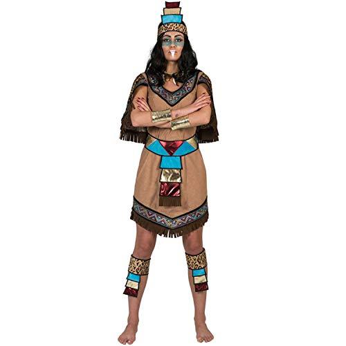 Funny Fashion Disfraz de Azteca Flecos para Mujer M