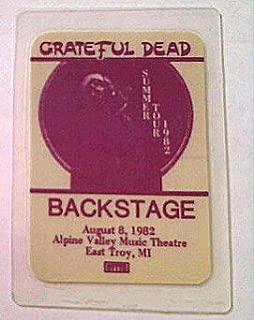 1982 8/8 Grateful Dead Backstage Pass Alpine Valley, WI Error