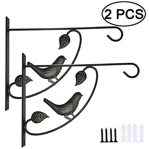 2 Pack Muurhaak Hangende Plantenbeugel Decoratief, Multifunctionele Plantenhaak Bloempotten Beugels voor Binnen en buiten, Vogelvoeders, Wind Chimes