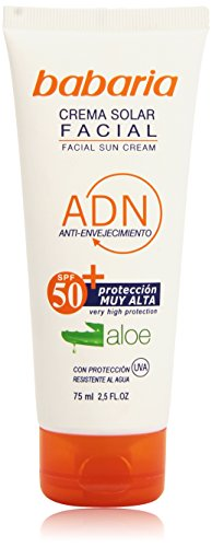 Babaria - Crema solar facial - Anti-envejecimiento SPF50+ - 75 ml (8410412029889)