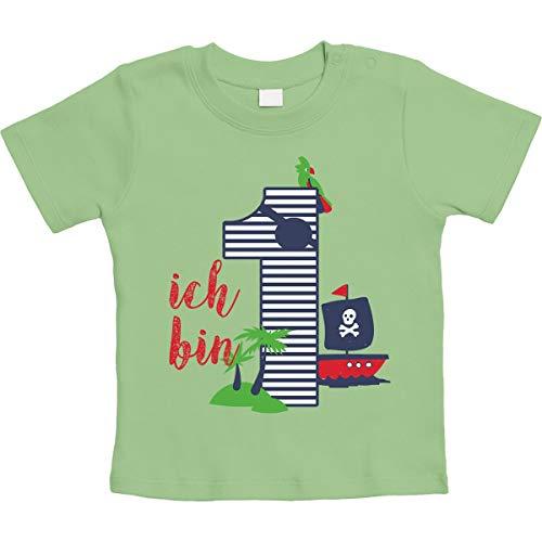Shirtgeil 1 Jahr Geburtstag Piraten Geschenk Jungen Baby T-Shirt 12-18 Monate Limettengrün