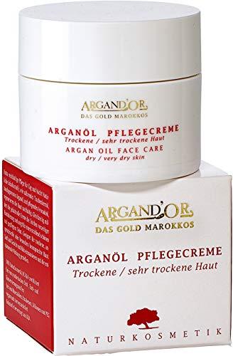 ARGAND\'OR vegane Arganöl Pflegecreme 50 ml Für trockene und sehr trockene Haut Extra reichhaltig und regenerierend Gesichtspflege für Tag und Nacht Vegan